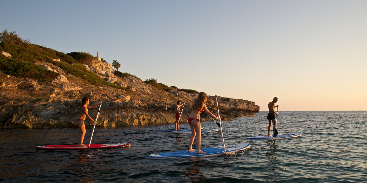 excursion paddle surf mallorca, sup en bahia de palma
